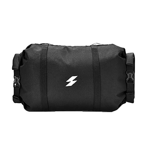 KK Zachary 900D Dense Cloth Bicycle Head Bag Water Repellent Wear-resistant Bicycle Front Beam Bag Large Capacity Outdoor Sports Riding Bag Black