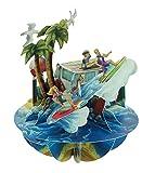 Santoro Pirouette, biglietto di auguri in 3D, motivo spiaggia e surf