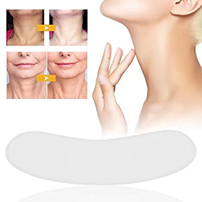 Reusable Washable Silicone Anti-wrinkle Neck Pads, Transparent and Super Soft Neck Lines Removal Patches Skin Care for Remove Wrinkles, Lifting and Tightening by Brrnoo