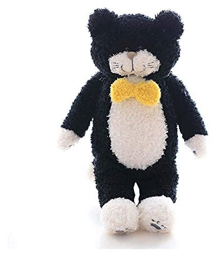 Simulación de Peluche Little Black Cat Rettle Toy Super Soft Bufanda Habitación Infantil Decorada (Color: B, Tamaño: L), Tamaño: L, Tamaño: Grande, Color Nombre: A (Color: a) (Color : B) Yuech