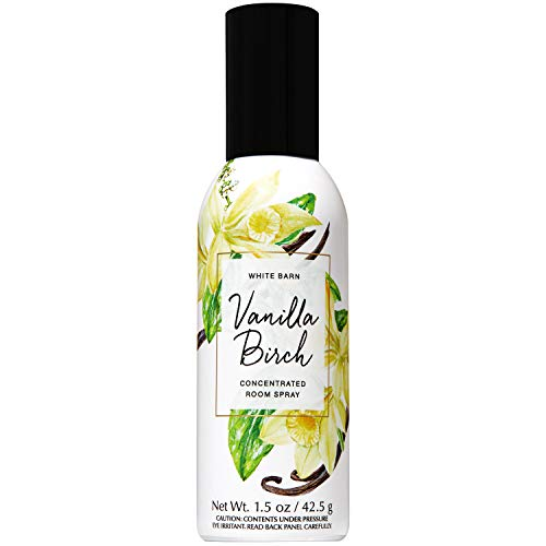 Bath and Body Works Vanilla Birch Concentrated Room Spray 1.5 Ounce (2019 Spring Edition, White Barn Label)
