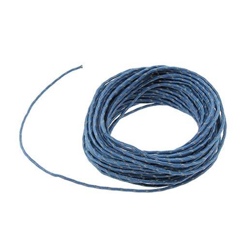 lahomia Reflective Paracord Tent Camping Guy Line Cable de Cuerda de Guía 2.5 Mm 50 Pies - Azul
