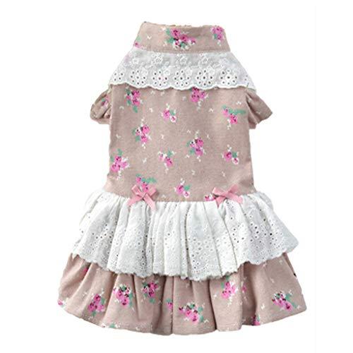 Disfraz de perro para mascotas, falda de princesa, falda de flores de campo de rosas para mascotas, perro o gato
