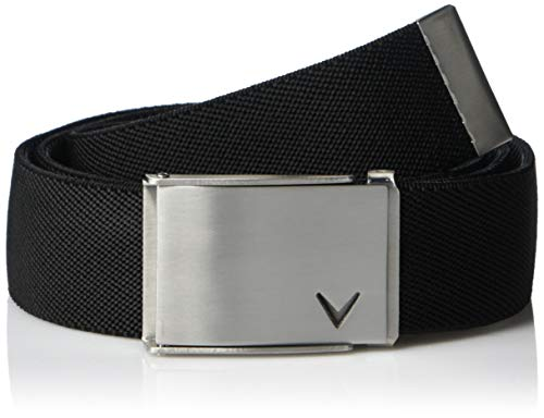 Callaway Men's Performance Logo Belt, Caviar, One Size