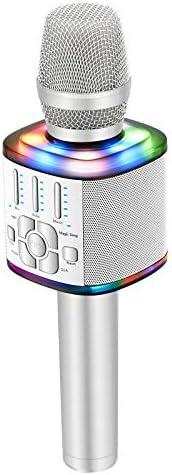 BONAOK 2021 Wireless Bluetooth Karaoke Microphone Magic Voice Portable Handheld Mic Speaker product image