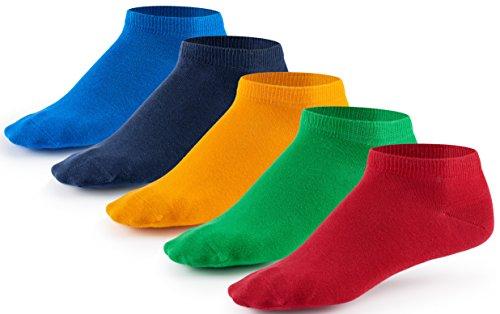 Mat & Vic's Sneaker Socken, 10 Paar, Cotton classic, Oeko-Tex Standard 100, Funny Colors, 43-46