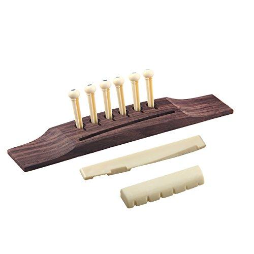 Guitar Bridge Nut Saddle And 6pcs String Pins For Acoustic Guitars Parts Replacement (Z4981)