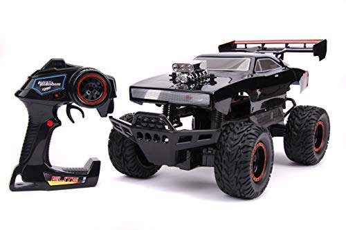 Fast & Furious 1:12 4x4 Dom's Dodge Charger Elite RC Remote Control Car 2.4 Ghz, Toys for Kids and Adults