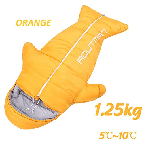PET Premium Léger Sac De Couchage Enfants,Orange