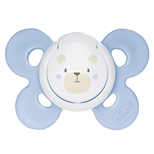 Chicco Physio Comfort - Chupete de silicona para 0 - 6 meses, color azul