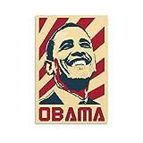 QWSDF Barack Obama Art Leinwand-Kunst-Poster und