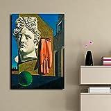 YYAYA.DS Lona Pared Arte Lienzo Impreso Pintura Pared Arte Carteles Giorgio De Chirico la canción de Amor Imagen Moderna Sala de Estar decoración del hogar 60x90cm