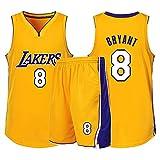 Xin Hai Yuan Jersey de baloncesto para niños, niñas, hombres, adultos, camiseta de manga corta y pantalones cortos, color amarillo, XS