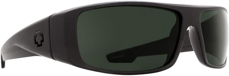 Spy Optic Logan サングラス RX マットブラック HD プラス グレーグリーン