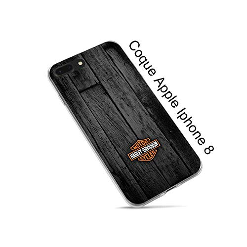 Super FABRIQUE - Cover trasparente per Apple iPhone (7-8-SE / 7+8+ / X/XR/XS/XSMax / 11 / 11Pro / 11ProMax / 12 Mini / 12 Pro) Design Harley Davidson (7/8/SE)