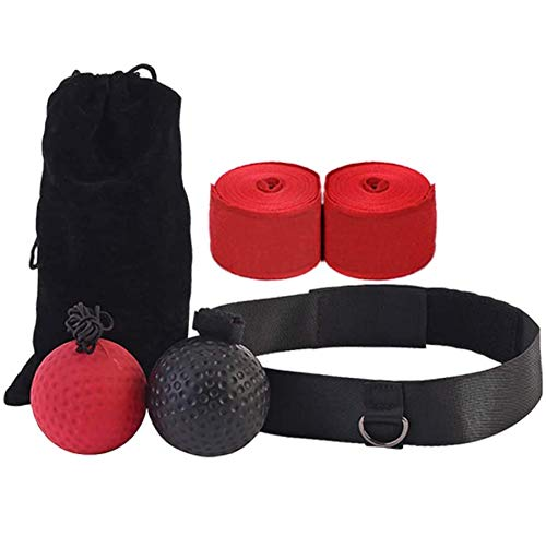 LONENESSL Boxing Fight Ball Reflex for Improving Speed Reactions and Hand Eye Coordination,Boxing Punch Equipment for Boxing, MMA and Other Combat Sports Training and Fitness