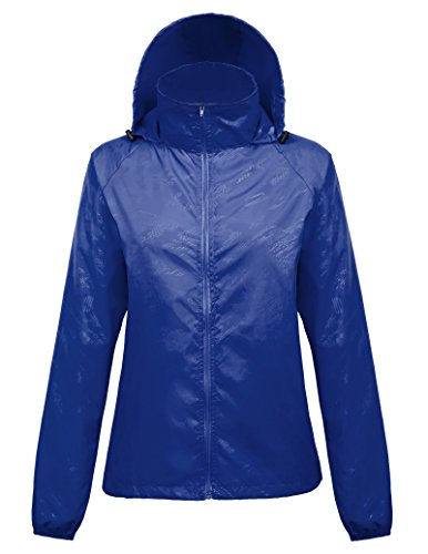 Lightweight Hiking Jackets with Hood for Junior (XXL,Royal Blue1001)