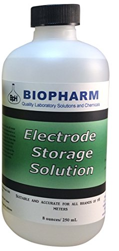 Biopharm pH/Oxygen Reduction Potential (ORP) Electrode Storage Solution 8 oz (250 mL) | Suitable for All pH Meters | 1M KCl Solution | Keeps Your Probes Conditioned and Helps to Extend its Life