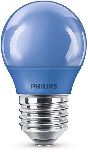 Philips LED Lampe, E27, Partylicht, blau, ideal zur Partybeleuchtung, Tropfen