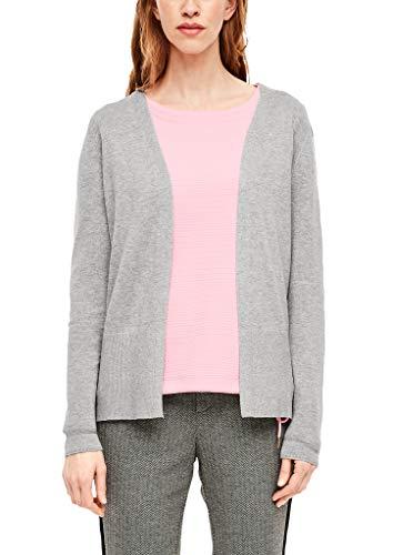 s.Oliver 04.899.64.6018 chaqueta punto, Gris (Grey Melange 9400), 48 (Talla del fabricante: 46) para Mujer