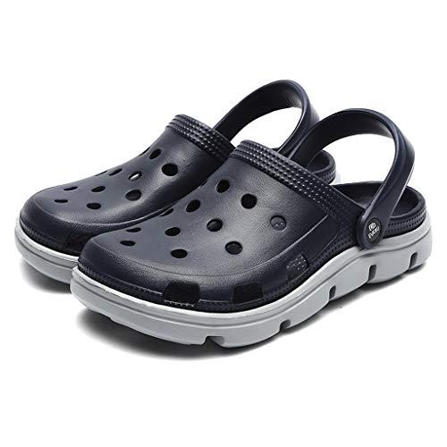 UXZDX Summer Men's Garden Shoes Agua Slip-on Men Pool Sandals Barato Beach Slippers Antidkid Baño Zapatillas (Size : 41)