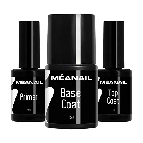 MEANAIL Primer Base e Top Coat Semipermanente • Primer Unghie Gel Base...