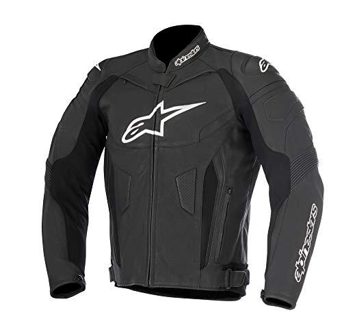 Alpinestars Lederjacke GP PLUS R V2 Jacke Motorrad mit Protektoren schwarz Sport Größe 56