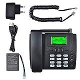 Lychee Wireless SIM Card gsm Classic Deskphone Teléfono de Escritorio Teléfono SMS Función para...