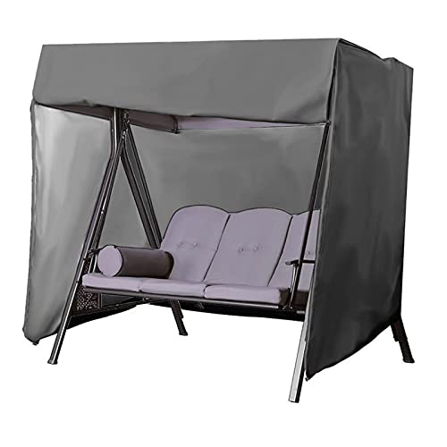 Funda para Muebles Muebles del Patio Cubiertas Protectoras de jardín de ratán Cubierta Muebles de Rattan oscilación Impermeable a Prueba de Viento Lluvia Nieve Polvo a Prueba de Viento Anti-UV (Negro