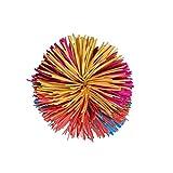 Berrywho Mono fibrosas Bolas de Colores del Arco Iris Bola Animosa Pom Bola Suave diversión Activa de Juguetes antiestrés Bolas de Juguete para Adultos Hombres Mujeres Niños