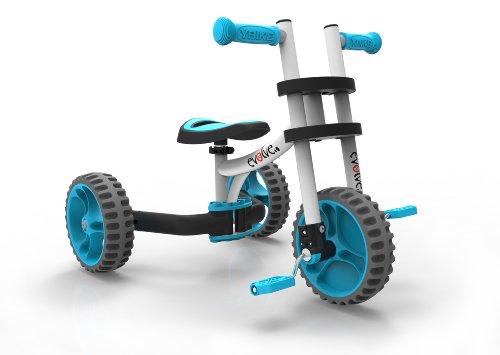 YBIKE Evolve Bike Ride On, White/Blue