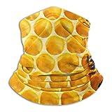 Bee With Honeycomb Bandanas Hombres Mujeres Mascarilla Head Wraps Neck Gaiter Balaclava A prueba de viento Anti Polvo para deportes al aire libre