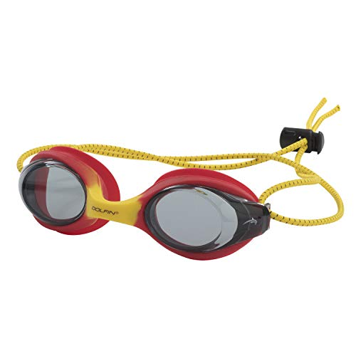 Dolfin Bungee Racer Swim Goggles (Red Yellow)