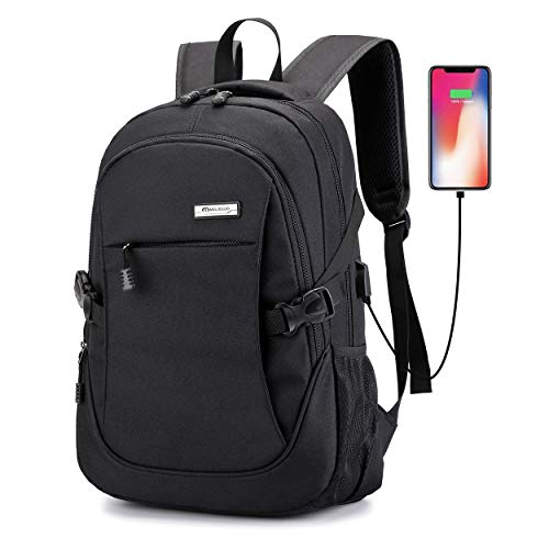 Laptop Backpack with USB Charging Port,Slim Travel Backpack with Laptop Compartment for Men and Women,College School BookBag Computer Bag for Girls and Boys Fits 15.6 In Laptop