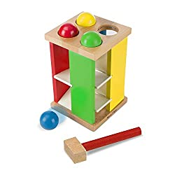 hammer ball tower for fine motor activities for kids