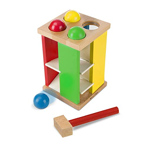 Melissa & Doug Pound and Roll Tower   Developmental Toy   Motor Skills   Problem Solving   2+   Gift for Boy or Girl