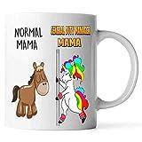 Normal Mama And General Duty Manager Mama Unicorn Coffee Mug. Tazza Per Nonne, Mamme, Mimi, Gigi, Nana - Compleanno, Natale, Festa della Mamma, Pensionamento Tazza - Elemiah Hester (Bianco, 11 Oz)