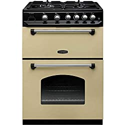 rangemaster 10732 classic 60cm double oven gas cooker cream and chrome stylish, classic design that looks fantastic in modern and traditional kitchens ideal for larger items Included components: 1 x Rangemaster 10732 Classic 60cm Double Oven Gas Cook...