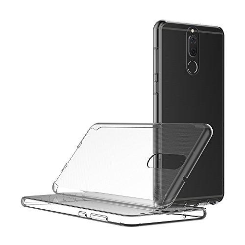 AICEK Huawei Mate 10 Lite Hülle, 360°Full Body Transparent Silikon Schutzhülle für Huawei Mate 10 Lite Case Crystal Clear Durchsichtige TPU Bumper Huawei Mate 10 Lite Handyhülle (5,9 Zoll) - 5