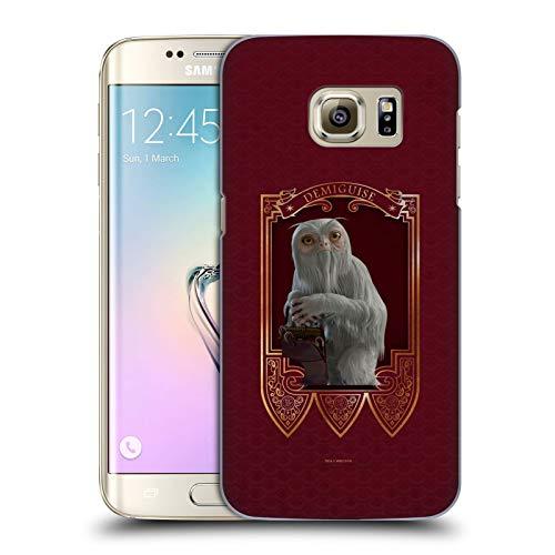 Head Case Designs Offizielle Fantastic Beasts and Where to Find Them Demiguise Tiere Harte Rueckseiten Handyhülle Hülle Huelle kompatibel mit Samsung Galaxy S7 Edge