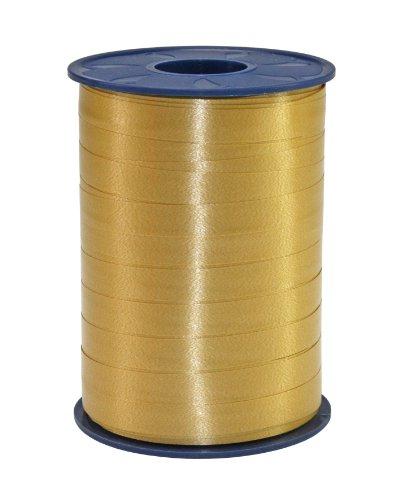 C.E. PATTBERG Geschenkband gold,  250 Meter Ringelband 10 mm zum Basteln,  Dekorieren & Verpacken von Geschenken  zu jedem Anlass