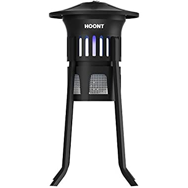 Hoont Mosquito Killer and Gnat Fly Trap Killer by, Indoor Outdoor Mosquito Trap Control with Stand - Bright UV Light and Fan/Exterminate Mosquitoes, Wasps, Etc. – Perfect for Patio, Gardens, etc.