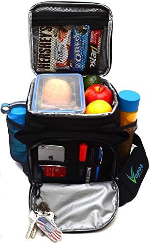 Roomy Insulated Lunch Bag for Men and Women with Space for More Meals and Snacks. Keeps Food Hot/Cold for 8h. Functional Lunch Box for Adults with More Pockets. Perfect for Your Work Lunches and More