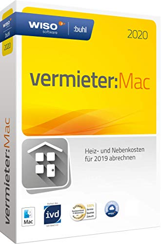 Buhl Data Service WISO Vermieter:Mac 2020 (5 WE - Klappbox) Vollversion, 1 Lizenz Mac Finanz-Software
