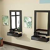 MTFY Black Salon Cabinet Wall
