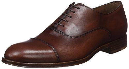 Lottusse L6965, Zapatos Oxford Puntera Recta Hombre, Marrón (Ebony Tabac 000), 43.5 EU