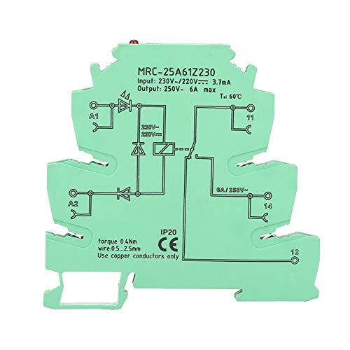 NITRIP Din-Mount-Relais, MRC-25A61Z230 PLC Elektromagnetischer Kontakt Schnittstellen-Relaismoduleingang 230VAC/220VDC 1NO 1 NC