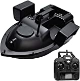 TYSJL Barco de Cebo del buscador de Peces con GPS - Barco de Cebo de Pesca del Barco RC con el Crucero de Echo Sounder con la batería de 12000mAh 3 Compartimentos de Cebo Independientes