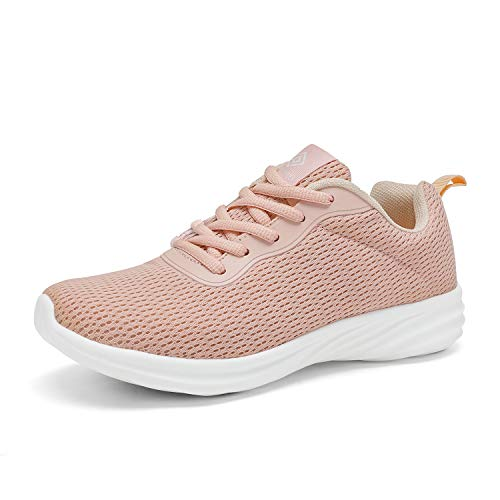 DREAM PAIRS Women's Shell Pink Lightweight Walking Sneakers Mesh Tennis Shoes Size 10 M US Rider