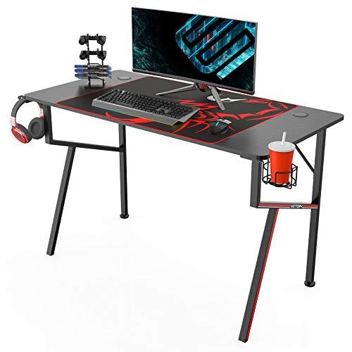 EUREKA ERGONOMIC Gaming Tisch K47 Gaming Schreibtisch Gaming Computertisch PC Schreibtisch mit...